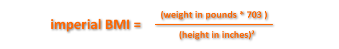 Imperial BMI Formula