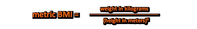 Metric BMI Formula
